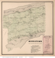 Morristown & Brier Hill Village, New York 1865 - Old Town Map Reprint - St. Lawrence Co. Atlas