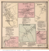Morristown, Richville, Russell, Hammond, etc., New York 1865 - Old Town Map Reprint - St. Lawrence Co. Atlas