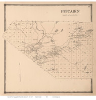 Pitcairn, New York 1865 - Old Town Map Reprint - St. Lawrence Co. Atlas