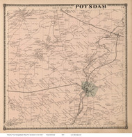 Potsdam, New York 1865 - Old Town Map Reprint - St. Lawrence Co. Atlas