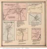 Racketville, Red Mills, Skinnerville, etc. - Potsdam, New York 1865 - Old Town Map Reprint - St. Lawrence Co. Atlas