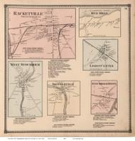 Racketville, Red Mills, Skinnerville, etc. - Potsdam, New York 1865 - Old Town Map Reprint - St. Lawrence Co. Atlas