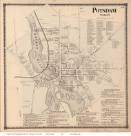 Potsdam Village, New York 1865 - Old Town Map Reprint - St. Lawrence Co. Atlas