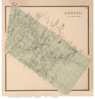 Russell, New York 1865 - Old Town Map Reprint - St. Lawrence Co. Atlas