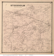 Stockholm, New York 1865 - Old Town Map Reprint - St. Lawrence Co. Atlas