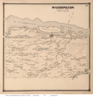 Waddington, New York 1865 - Old Town Map Reprint - St. Lawrence Co. Atlas