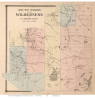 Wilderness, New York 1865 - Old Town Map Reprint - St. Lawrence Co. Atlas
