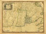 Rhode Island 1755 Douglass - Old State Map Reprint