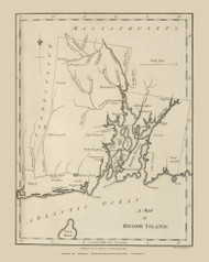 Rhode Island 1794 Morse - Old State Map Reprint