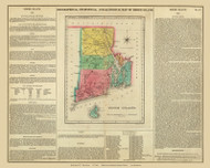 Rhode Island 1822 Carey - Old State Map Reprint