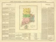 Rhode Island 1825 Carey - Old State Map Reprint