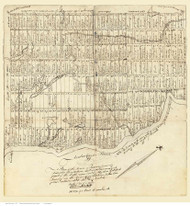 Turner Maine 1770  - Old Map Reprint - Maine Cities Other