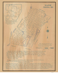 Vienna Maine 1905  - Old Map Reprint - Maine Cities Other
