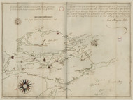 Georgetown 1795 Hill - Old Map Reprint - Maine Cities Other