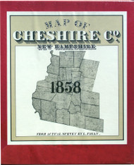 Map of Cheshire Co., New Hampshire 1858 - Boxed Portfolio