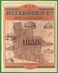 Map of Hillsboro Co., New Hampshire 1858 - 1982 Portfolio Edition - Loose Sheets