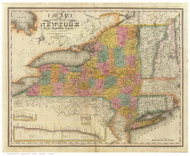 NY State 1829 - Burr State Atlas