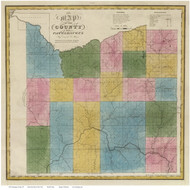 Cattaraugus County New York 1829 - Burr State Atlas