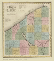 Chautauque County New York 1829 - Burr State Atlas