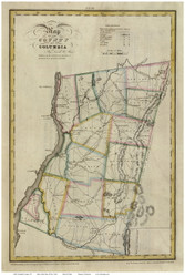 Columbia County New York 1829 - Burr State Atlas