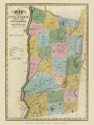 Dutchess & Putnam County New York 1829 - Burr State Atlas