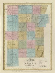 Genesee County New York 1829 - Burr State Atlas