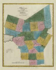 Oneida County New York 1829 - Burr State Atlas