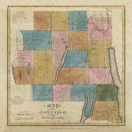 Ontario & Yates County New York 1829 - Burr State Atlas