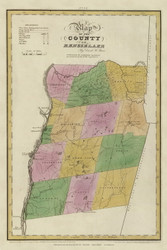 Rensselaer County New York 1829 - Burr State Atlas