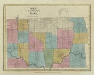 Tioga County New York 1829 - Burr State Atlas