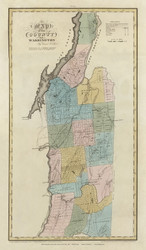 Washington County New York 1829 - Burr State Atlas