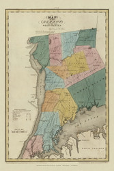 Westchester County New York 1829 - Burr State Atlas
