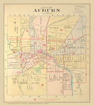 Auburn, New York 1904 - Old Town Map Reprint - Cayuga Co. Atlas