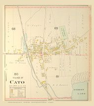 Cato Village, New York 1904 - Old Town Map Reprint - Cayuga Co. Atlas
