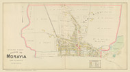 North Moravia Village, New York 1904 - Old Town Map Reprint - Cayuga Co. Atlas