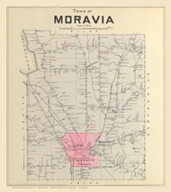 Moravia, New York 1904 - Old Town Map Reprint - Cayuga Co. Atlas