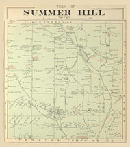 Summer Hill, New York 1904 - Old Town Map Reprint - Cayuga Co. Atlas