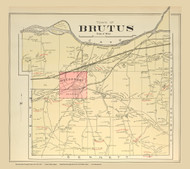 Brutus , New York 1904 - Old Town Map Reprint - Cayuga Co. Atlas