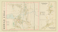 Port Byron Conquest Spring Lake, New York 1904 - Old Town Map Reprint - Cayuga Co. Atlas