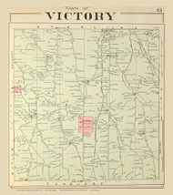 Victory, New York 1904 - Old Town Map Reprint - Cayuga Co. Atlas