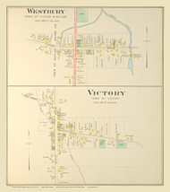 Westbury Victory, New York 1904 - Old Town Map Reprint - Cayuga Co. Atlas