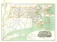 Massachusetts 1911 Railroad Comissioners - Old State Map Reprint