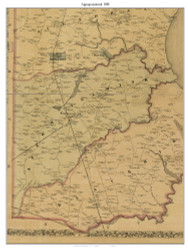 Appoquinimink, Delaware 1881 Old Town Map Custom Print - New Castle Co.