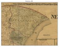 Brandywine, Delaware 1881 Old Town Map Custom Print - New Castle Co.