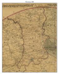 Christiana, Delaware 1881 Old Town Map Custom Print - New Castle Co.
