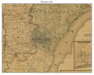 Wilmington, Delaware 1881 Old Town Map Custom Print - New Castle Co.