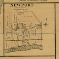 Newport Village - Christiana, Delaware 1881 Old Town Map Custom Print - New Castle Co.