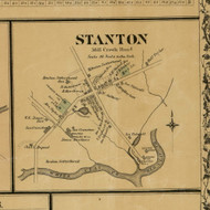 Stanton Village - Mill Creek, Delaware 1881 Old Town Map Custom Print - New Castle Co.