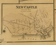 New Castle Village - New Castle, Delaware 1881 Old Town Map Custom Print - New Castle Co.