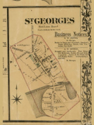 St. Georges Village - Red Lion, Delaware 1881 Old Town Map Custom Print - New Castle Co.